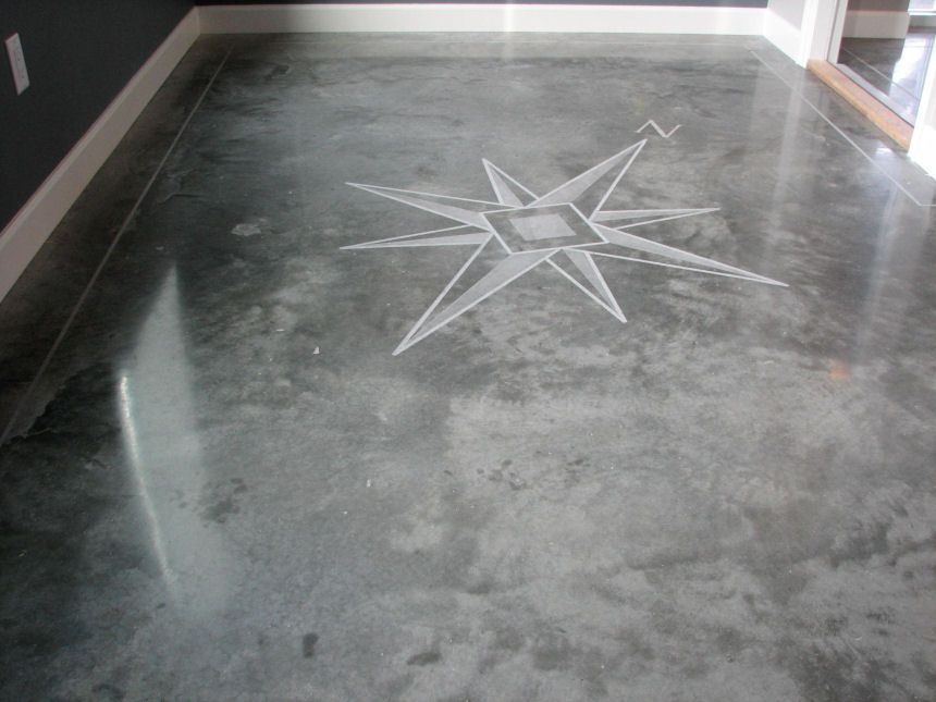 pin flooring resin poured concrete floor kitchen installation and micro