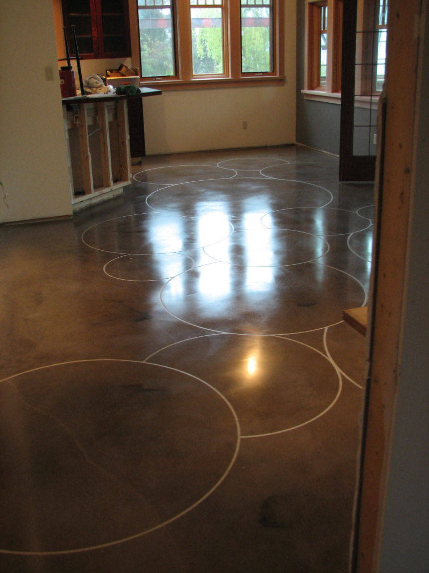 decorative floor ideas residential with polish by topline floors custom concrete inspiration